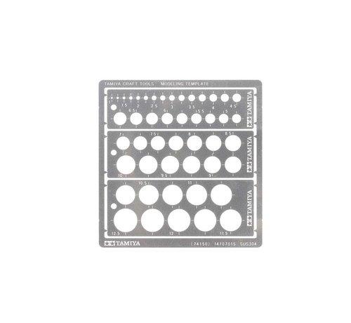 Tamiya (TAM) 865- 74150 Modeling Template, Round 1-12.5mm