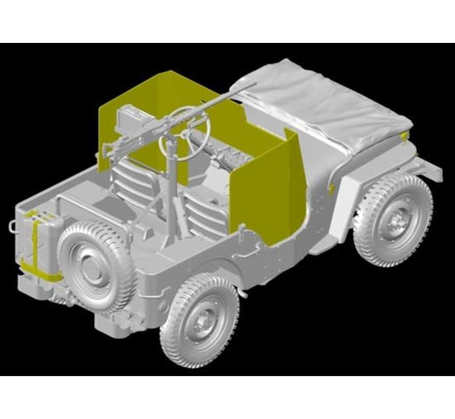 6727 Armored 1/4-Ton 4x4 Truck w/ 50-cal Machine Gun (3 in 1