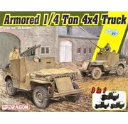 Dragon Models (DML) Armored 1/4-Ton 4x4 Truck w/.50-cal Machine Gun (3 in 1) 1:35