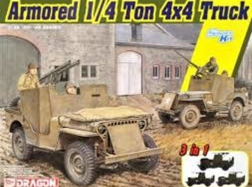DML - Dragon Models Armored 1/4-Ton 4x4 Truck w/.50-cal Machine Gun (3 in 1) 1:35