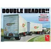 AMT Models (AMT) AMT Tandem Van Trailers, Double Header 1/25