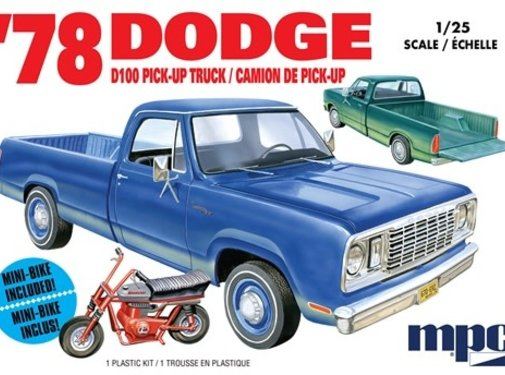 MPC (MPC) 1978 Dodge D100 Custom Pickup 2T 1/25
