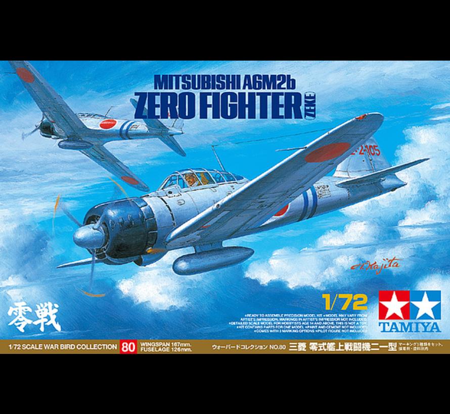60780 Mit A6M2b (ZEKE) Zero Fighter 1/72