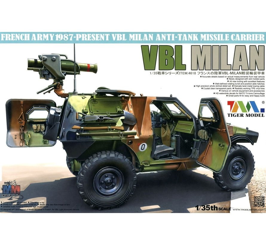 35 4618 1/35 French VBL Milan Anti-Tank Missile Launcher Vehicle 1987-Present