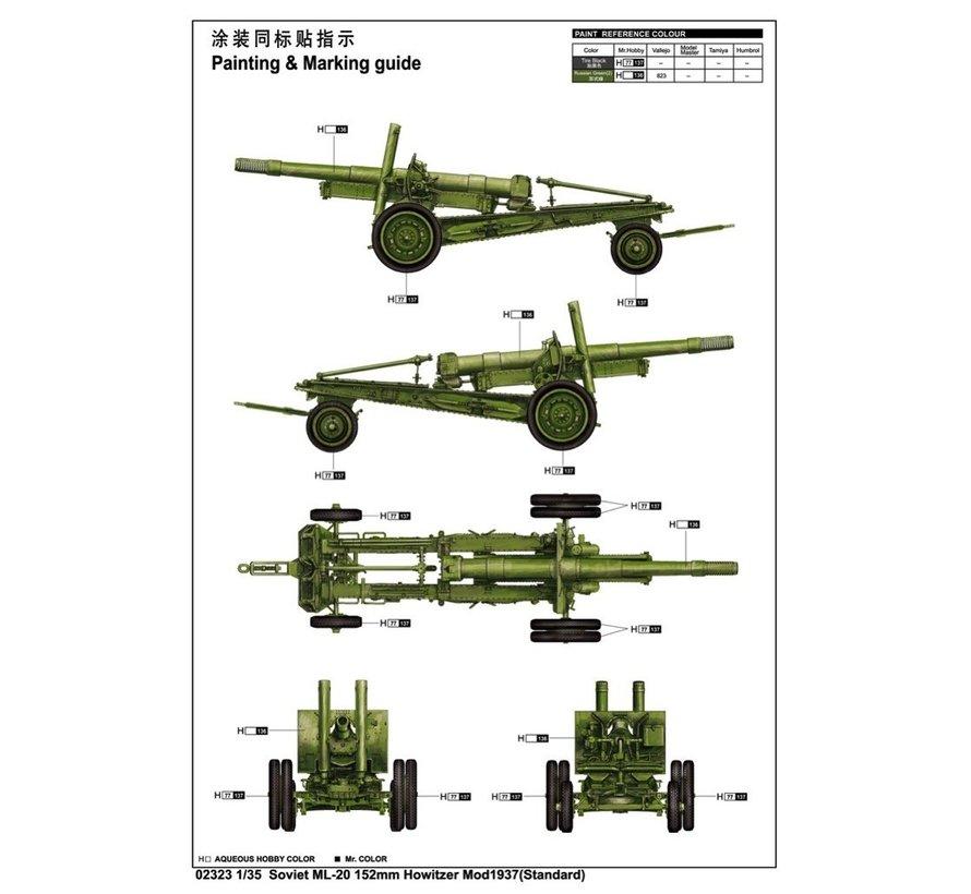 1/35 Soviet ML-20 M1937 152mm Howitzer Mod 1937
