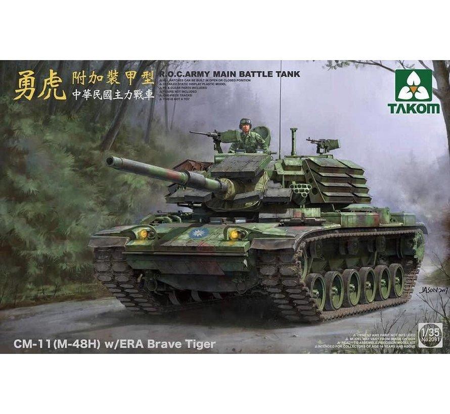 1/35 R.O.C. Army MBT CM-11 (M-48H) w/ERA Brave Tiger - TAK2091