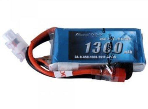Gens ace Gens Ace 1300mAh 7.4V 45C 2S1P Lipo Battery Pack Deans plug