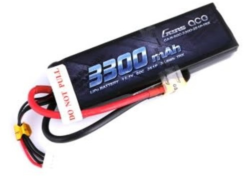 Gens ace Gens ace 3300mAh 11.1V 50C 3S1P Lipo Battery Pack with XT60 Plug
