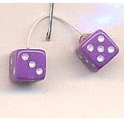 KENS KUSTOM KAR SUPPLY (KEN) D10 Lavender w/White Dots Fuzzi Dice 1:24