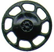 KAD - Kadee 2043 HO scale Brake Wheel, Universal/Black (8)
