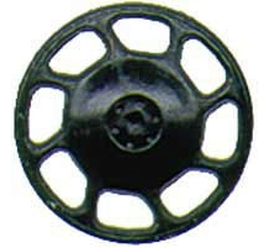 2043 HO scale Brake Wheel, Universal/Black (8)
