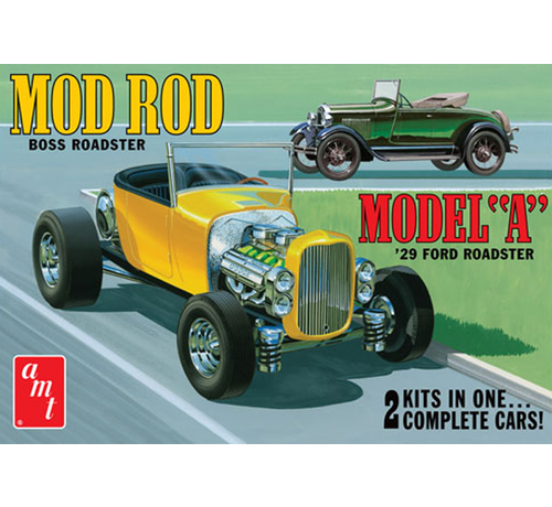 AMT Models (AMT) 1000/12 Ford 1929 Model A Roadster (OAS) Mod Rod 1/25