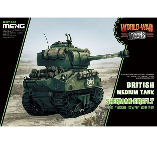 MENG MODEL (MGK) WWT008 Meng Misc British Tank Sherman-Firefly World War Toons