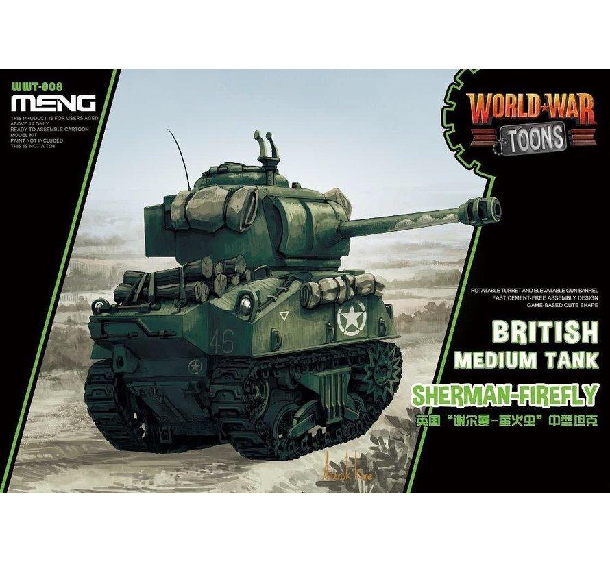 WWT008 Meng Misc British Tank Sherman-Firefly World War Toons