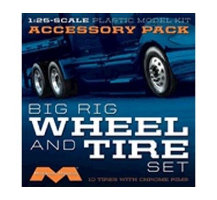 1010 1/25 Semi Wheels/Tires (10 pk)
