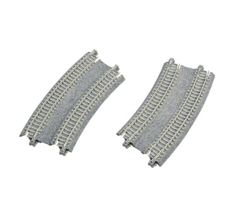 "20-184 N scale 11""/12.4"" 45-Degree Double Track Easement (2)"