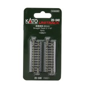 Kato USA (KAT) 381- 20-040 N scale Track 62mm 2-7/16  Straight (4)