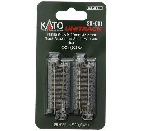 Kato USA (KAT) 381- 20091 N Short Straight Track Assortment Unitrack