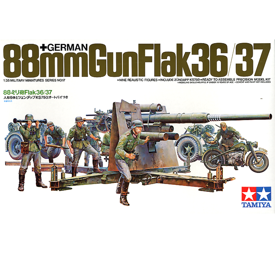35017 German Gun Flak,88mm 1/35