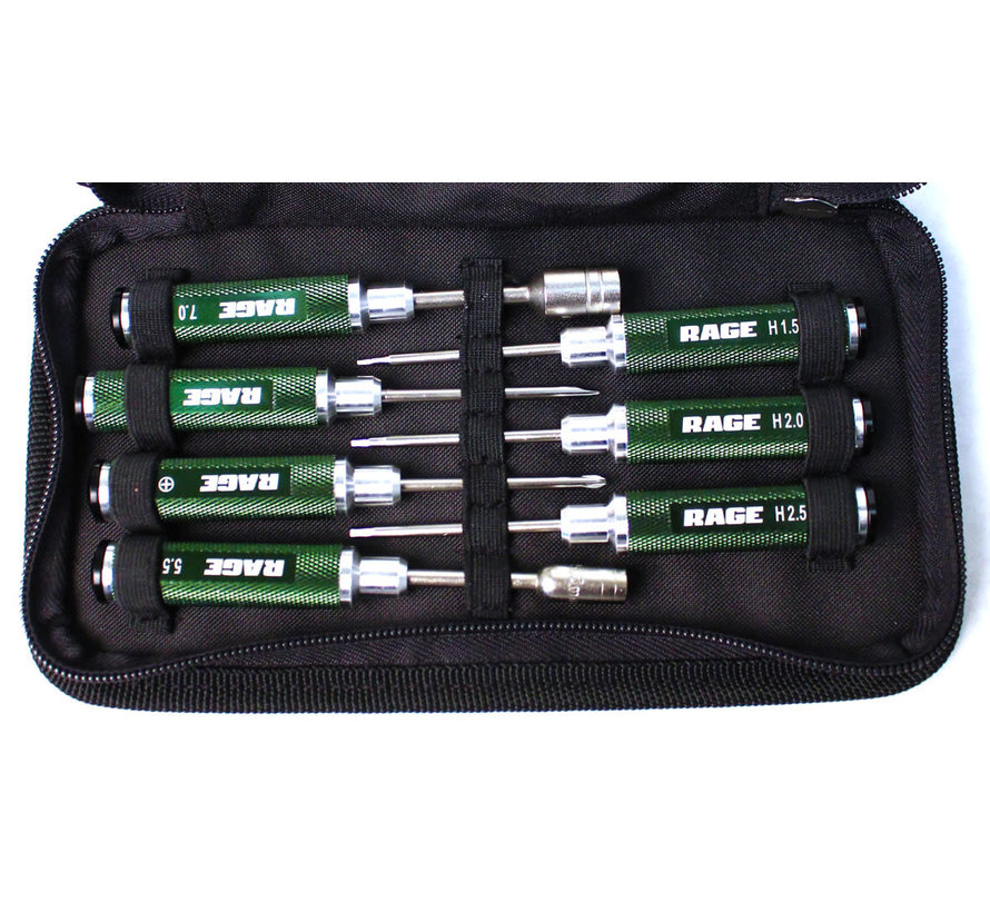 1500  Compact 7 Piece Machined Tool Set with Case