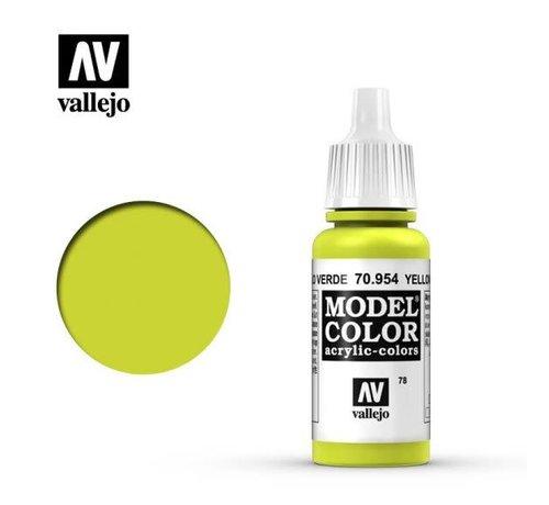 VALLEJO ACRYLIC (VLJ) 70954 - YELLOW GREEN                17ML