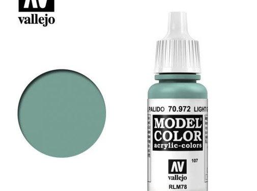 VALLEJO ACRYLIC (VLJ) 70972 (107) - LIGHT GREEN BLUE            17ML