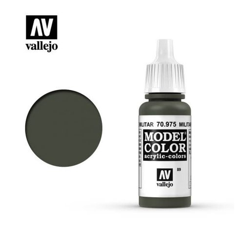 VALLEJO ACRYLIC (VLJ) 70975 - MILITARY GREEN              17ML