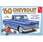AMT Models (AMT) 1063M 1960 Chevy Fleetside Pickup w/Go Kart 2T 1/25