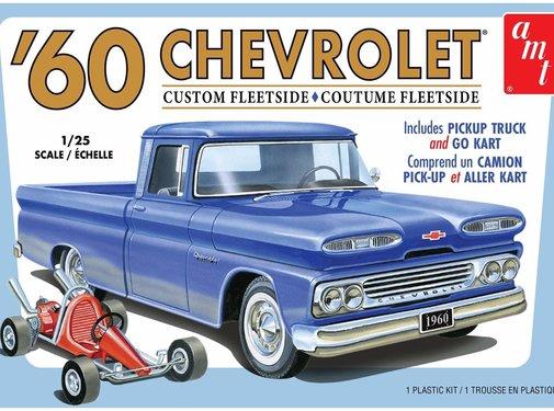 AMT Models (AMT) 1063M 1960 Chevy Fleetside Pickup w/Go Kart 2T 1/25