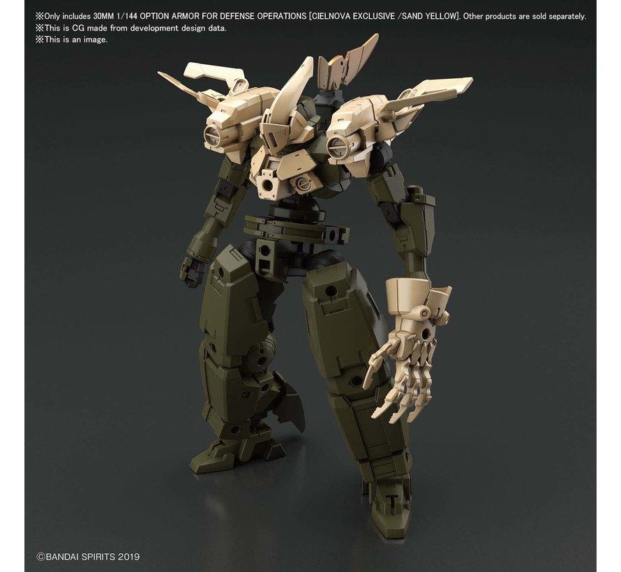 "Cielnova Option Armor For Defense Operations (Sand Yellow) ""30 MM""Bandai Spirits"