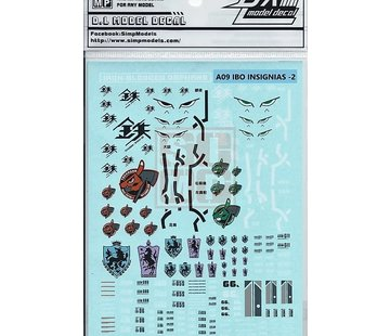 Super Indoors Men Pro (SIM) General Design Water Decal Iron Blooded Orphan-2