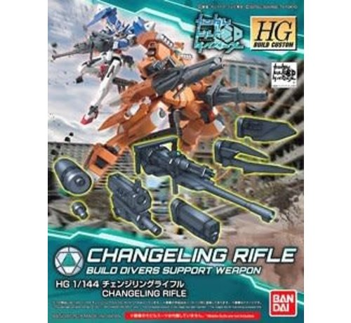 "Bandai 225732 Changeling Rifle ""Gundam Build Divers"", Bandai HGBC"