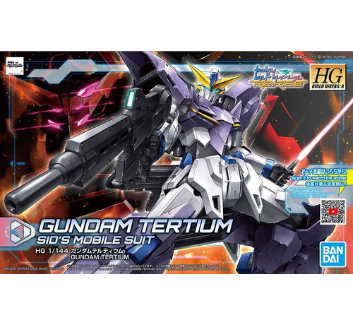 "Bandai 5058918 #16 GUNDAM TERTIUM Gundam Build Divers"", Bandai Spirits HGBD:R 1/144"