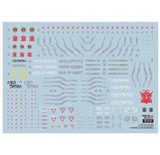 Super Indoors Men Pro (SIM) Water Decals HiRM God Gundam 1/100