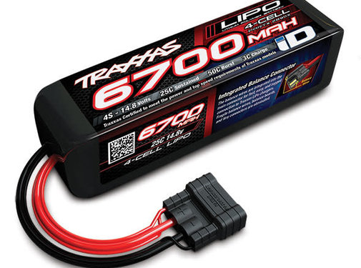 Traxxas (TRA) 2890X Power Cell 4S 6700mAh LiPo Battery with iD Connector