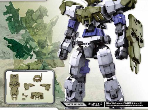 Bandai Close Quarters Battle Option Armor for Alto Dark Green