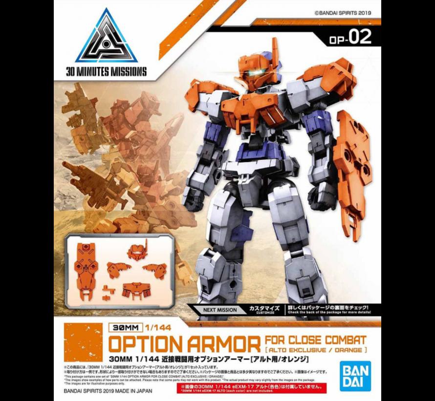 "5057782 #02 Close Quarters Battle Option Armor for Alto Orange (EACH)""30 Minute Mission"", Bandai 30 MM Option Armor"
