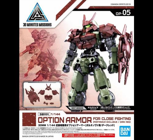 "Bandai 5057797 #05 Close Quarters Combat Option Armor for Portanova Dark Red (Each)  ""30 Minute Mission"",Bandai 30 MM Option Armor"