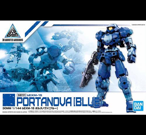 "Bandai 5058105 #08 beEMX-15 Portanova Blue ""30 minute Mission"", Bandai 30 MM"