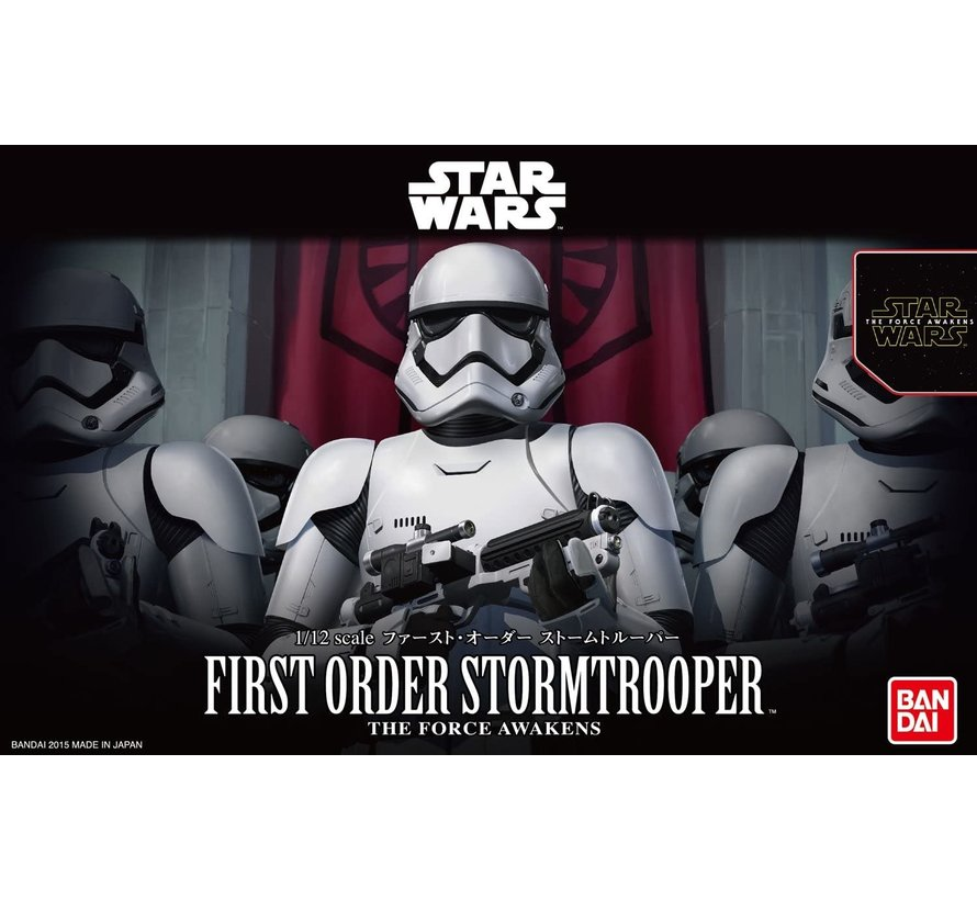 "203217  First Order Stormtrooper ""Star Wars"", Bandai Star Wars Character Line 1/12"