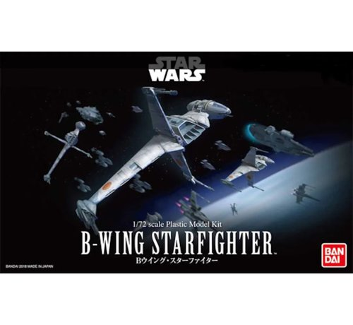 "Bandai 230456 B-Wing Starfighter ""Star Wars"", Bandai Star Wars 1/72 Plastic Model"