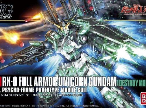 Bandai Full Armor Unicorn Gundam Destroy Mode