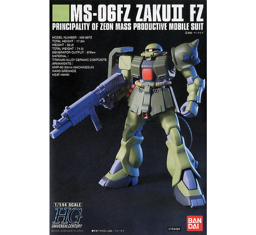 5058262 #87 MS-06F ZAKU II FZ (KAI) HG
