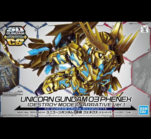 """Bandai 5055578 #7 Unicorn Gundam 03 Phenex """"Gundam NT"""" Bandai SDGCS"""