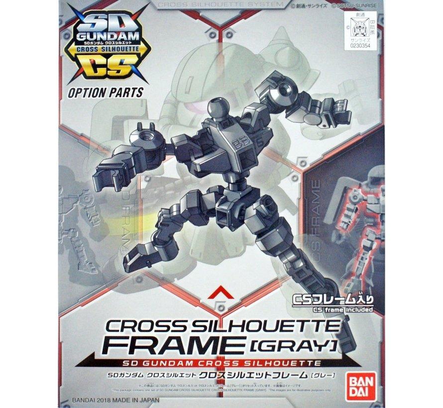 "230354 Cross Silhouette Frame Gray ""SD Gundam"", Bandai SDCS Gundam"
