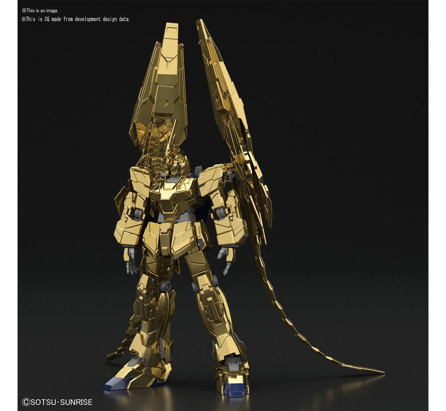 "5058087 #227 Unicorn Gundam 03 Phenex Unicorn Mode (NT Ver.) [Gold Coating] ""Gundam NT"" Bandai HGUC 1/144"