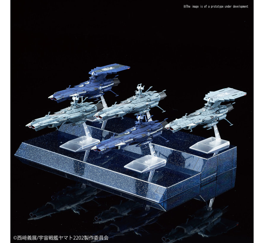 "5055354 #08 MECHA COLLECTION U.N.C.F. ANDROMEDA-CLASS SET ""Star Blazers"", Bandai Mecha Collection"
