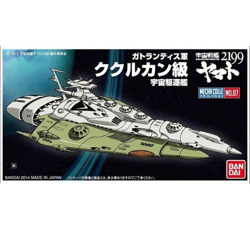 Bandai 191402 #07 KUKULKAN CLASS Space Battleship Yamato 2199 Mecha Colle