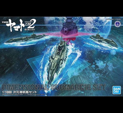 "Bandai 5059008 Dimensional Submarine Set ""Yamato 2202"", Bandai Spirits Yamato 1/1000"