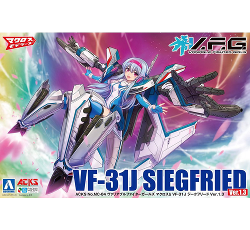 Aoshima (AOS) 05687 V.F.G. VF-31J Siegfried Ver.1.3 ACKS #MC-04 Macross Plastic Model Kit